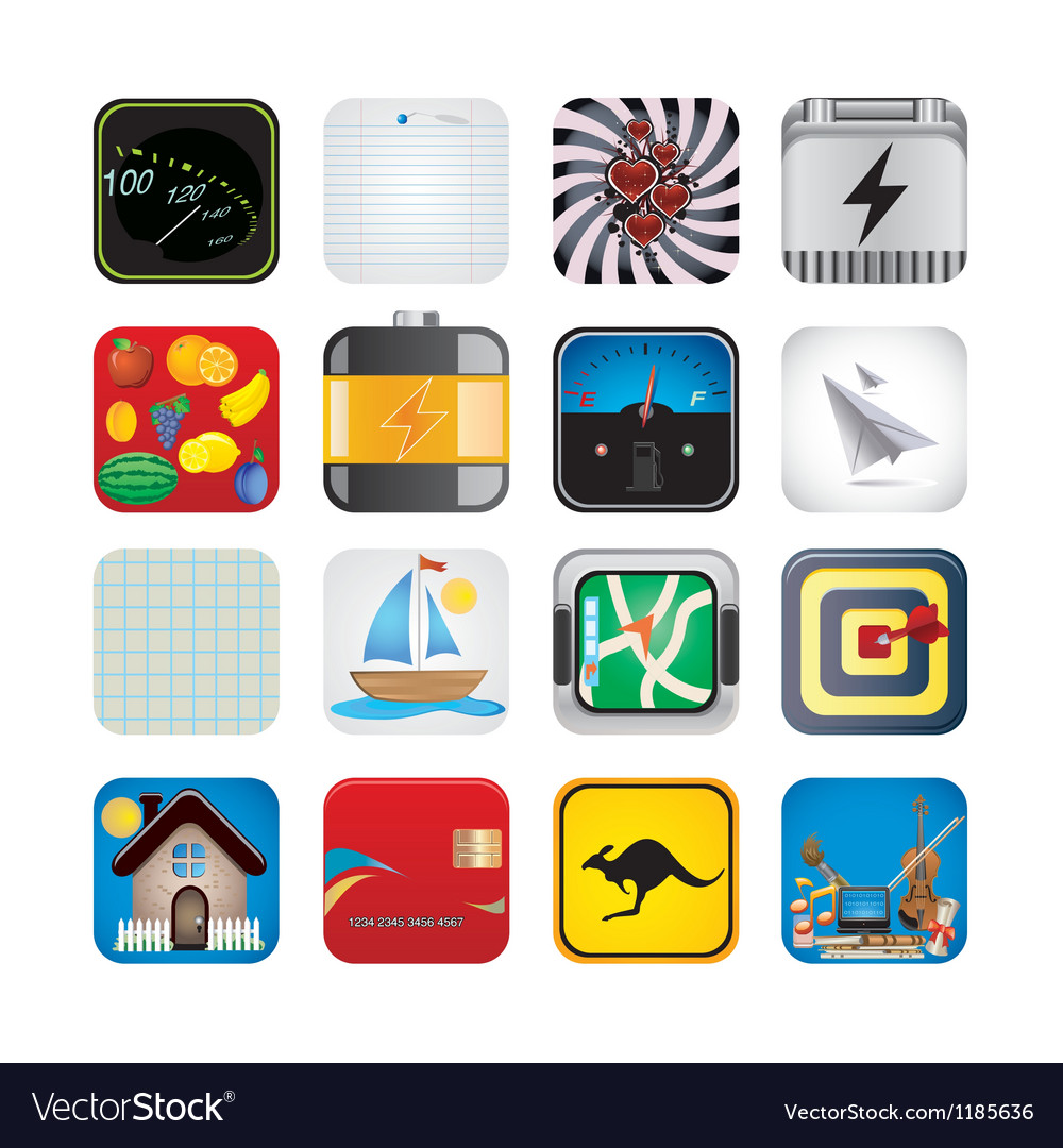 App set of icons vector | Price: 3 Credit (USD $3)