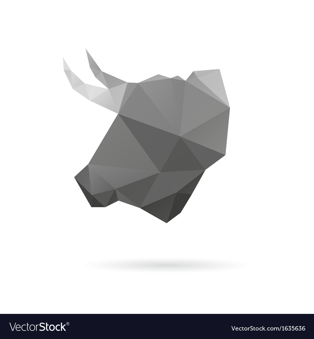 Bull head abstract isolated vector | Price: 1 Credit (USD $1)