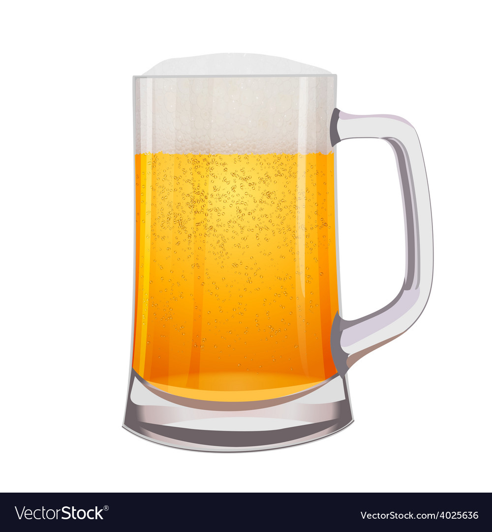 Excellent isolated mug of beer vector | Price: 3 Credit (USD $3)