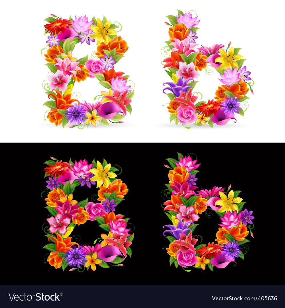 Flower font vector   Price: 1 Credit (USD $1)