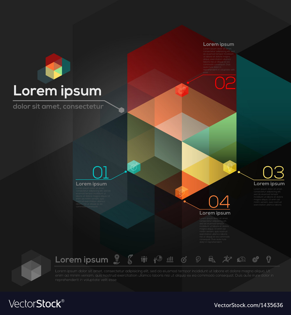 Geometric abstract design layout vector | Price: 1 Credit (USD $1)