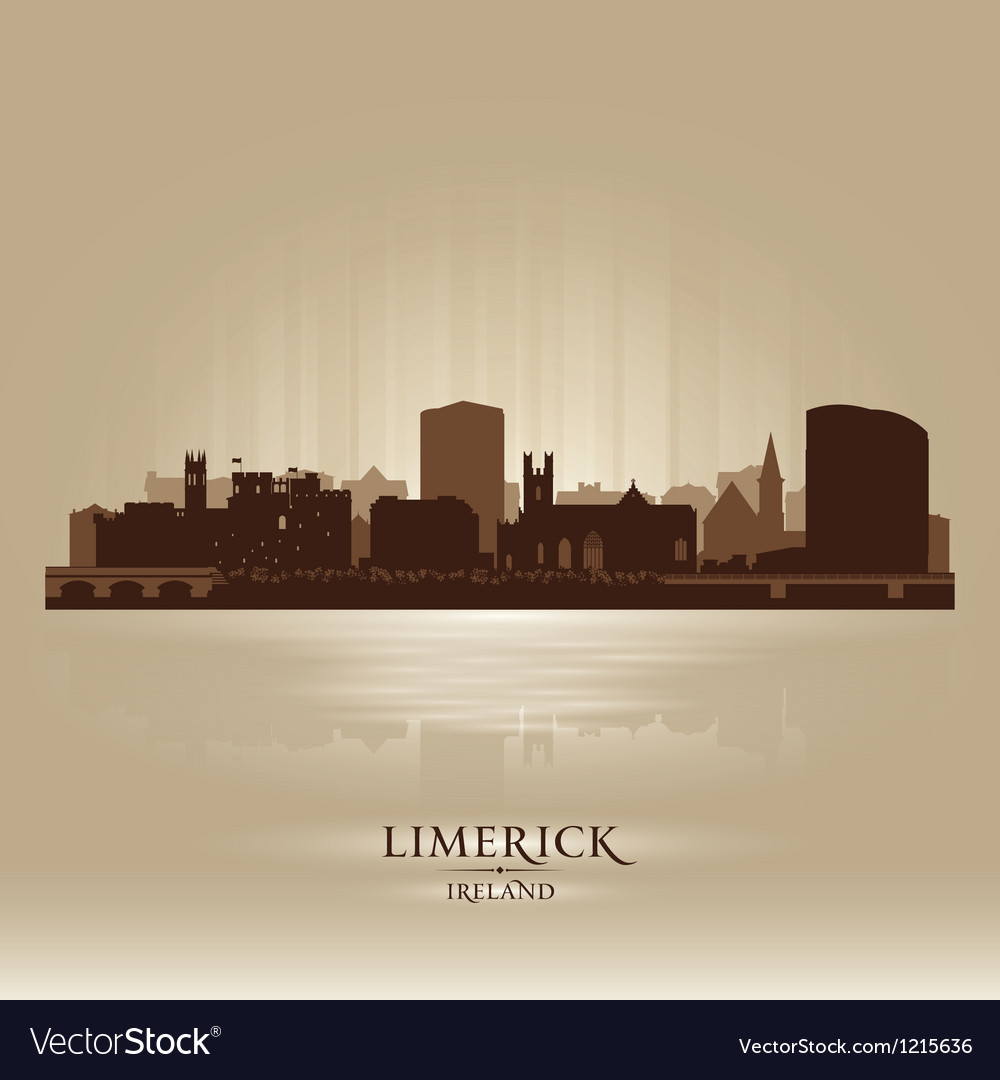 Limerick ireland skyline city silhouette vector | Price: 1 Credit (USD $1)