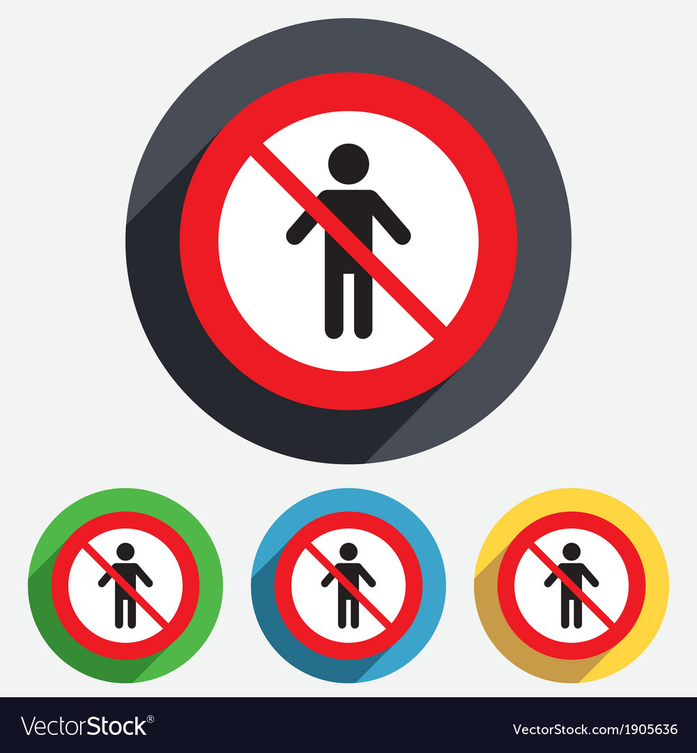 No human male sign icon person symbol vector | Price: 1 Credit (USD $1)