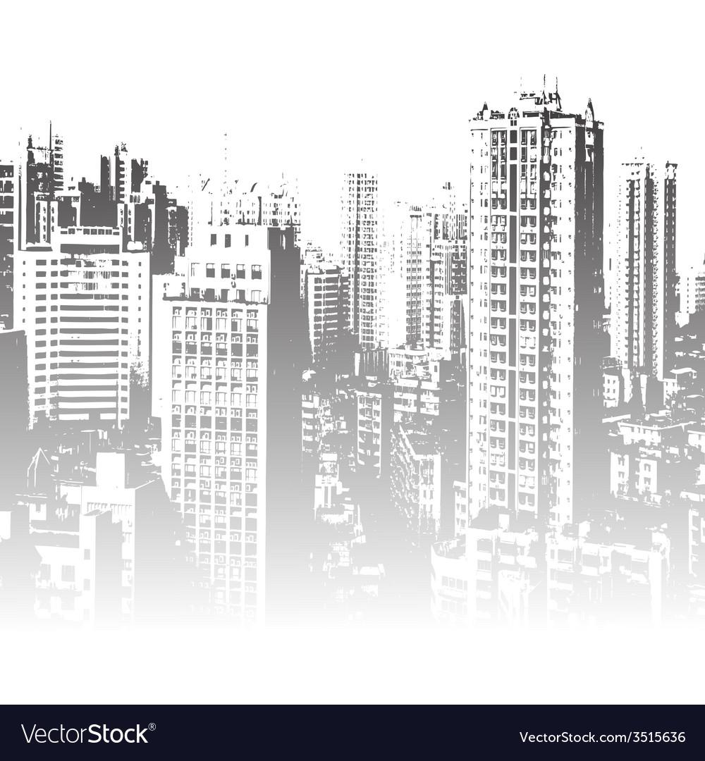 Panorama of the city cartoon vector | Price: 1 Credit (USD $1)