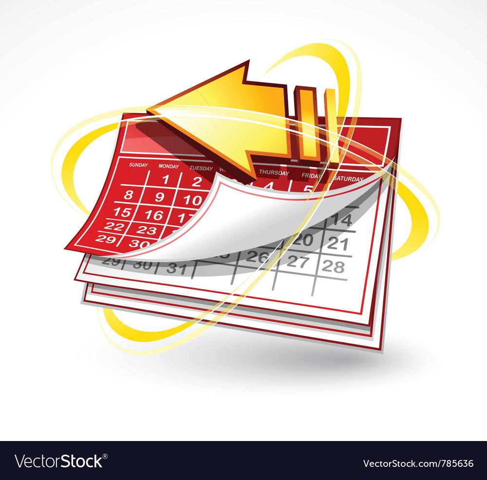 Paper calendar with arrow vector   Price: 1 Credit (USD $1)