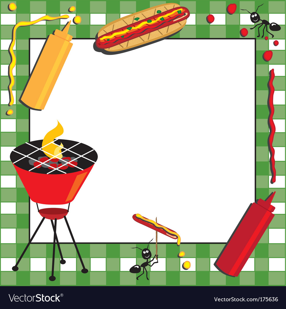 Picnic and bbq invitation vector | Price: 1 Credit (USD $1)