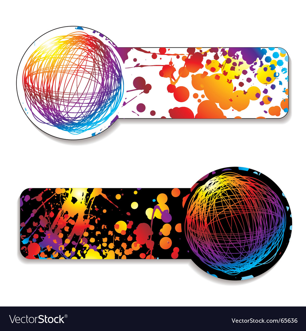 Scribble rainbow tag vector | Price: 1 Credit (USD $1)