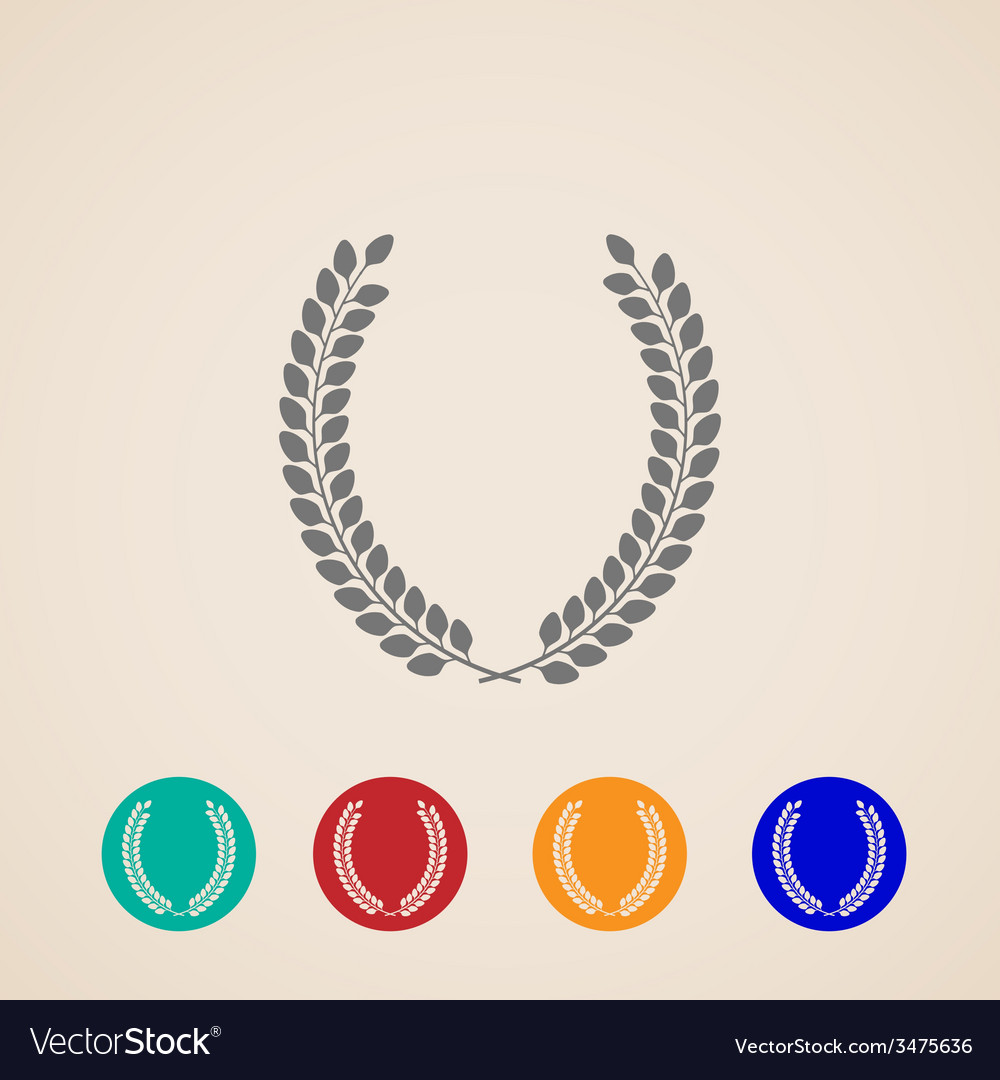 Set of icons with laurel wreaths vector | Price: 1 Credit (USD $1)