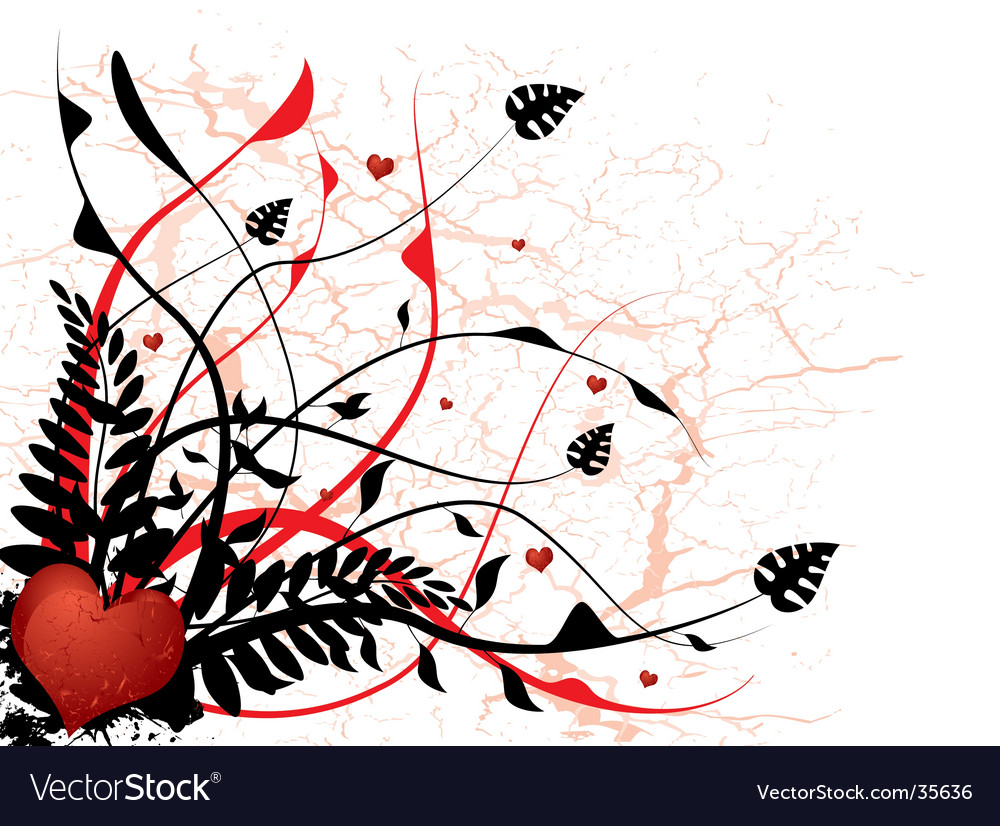 Silhouette love floral vector   Price: 1 Credit (USD $1)