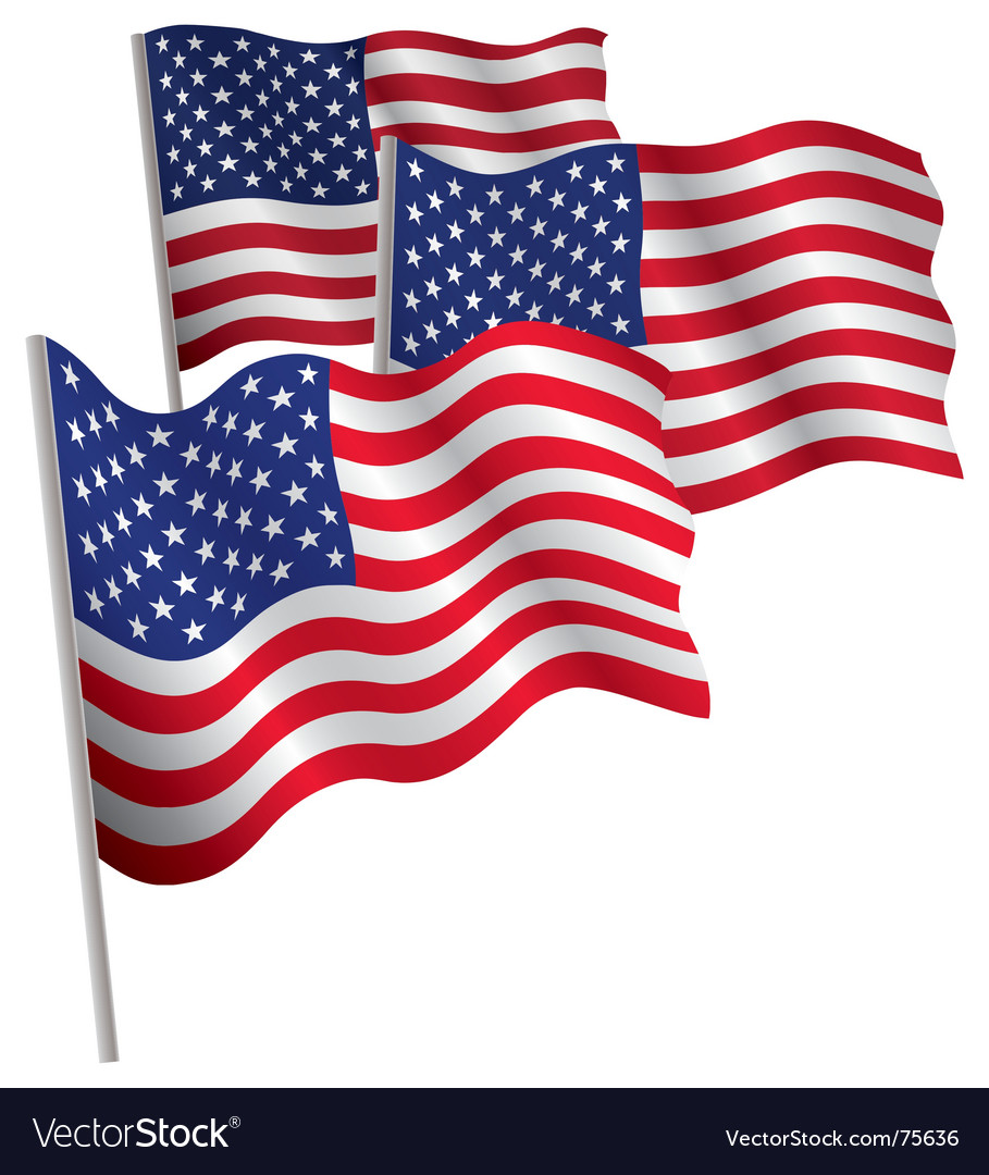 Usa 3d flag vector | Price: 1 Credit (USD $1)