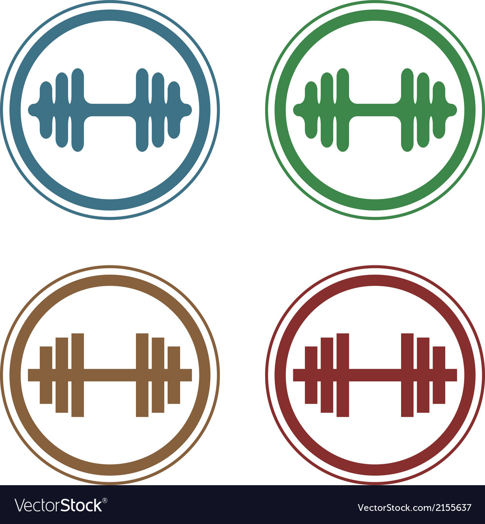 Barbell stamp vector | Price: 1 Credit (USD $1)