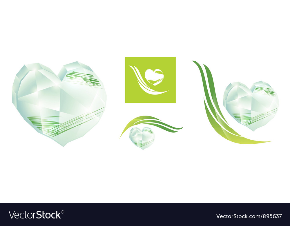 Crystal heart vector | Price: 1 Credit (USD $1)