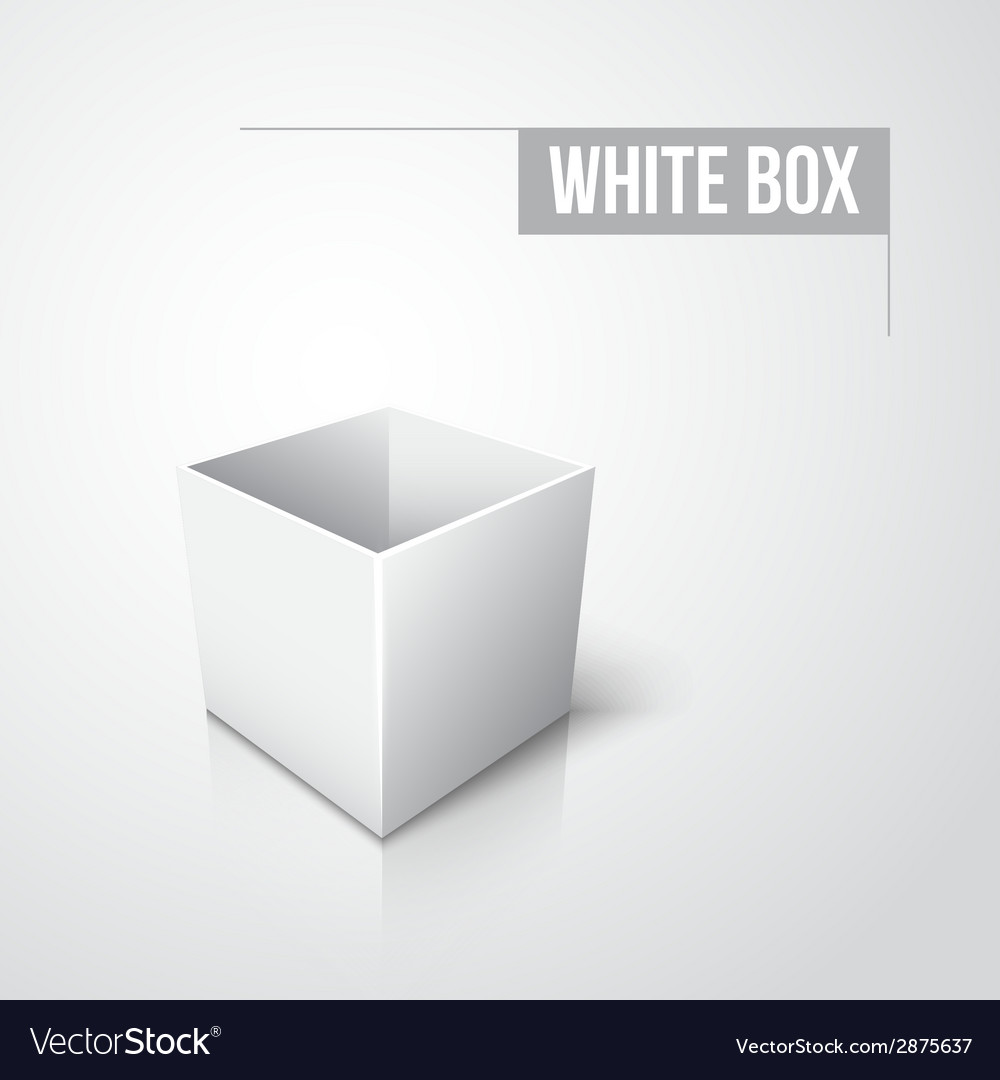 Empty white box with shadow and reflection vector | Price: 1 Credit (USD $1)