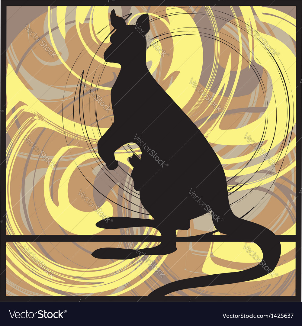 Kangaroo vector | Price: 1 Credit (USD $1)