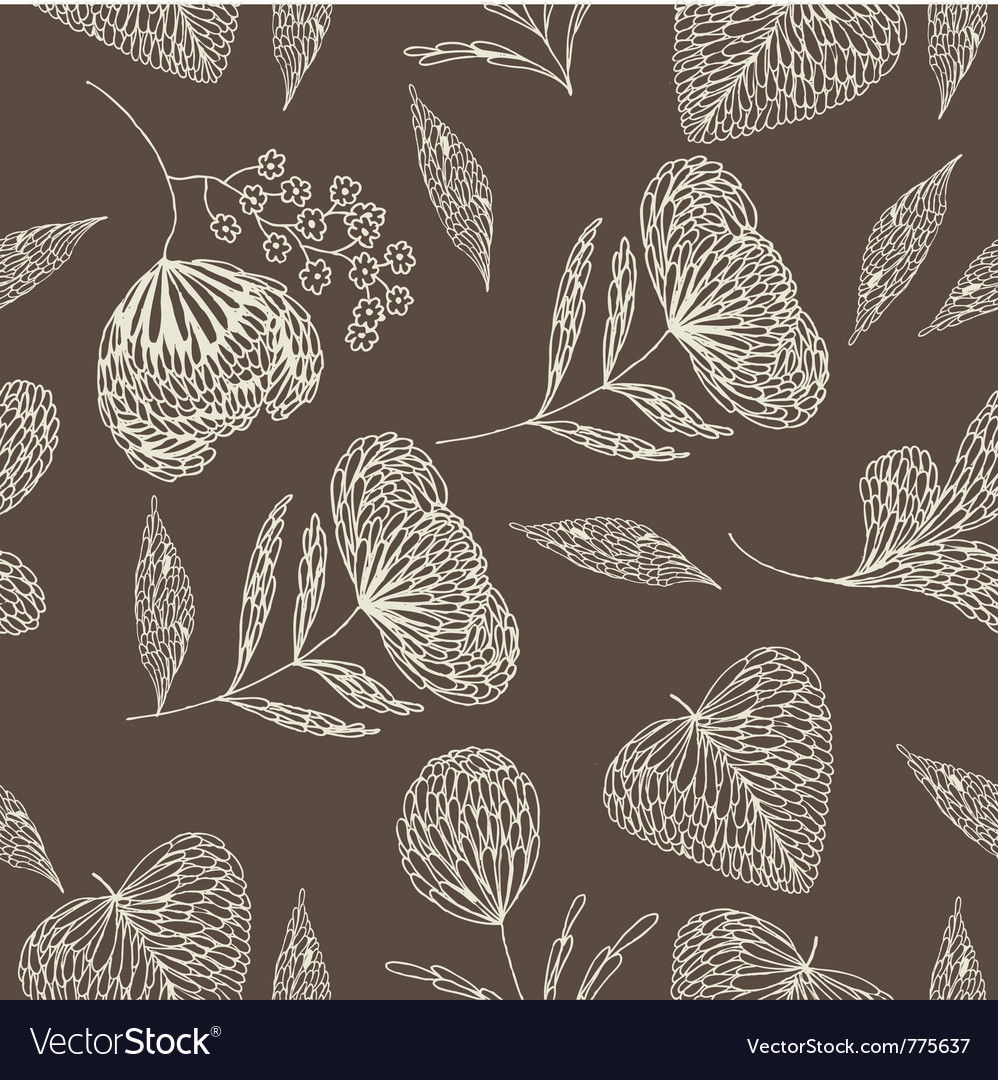 Leaf drawing background vector | Price: 1 Credit (USD $1)