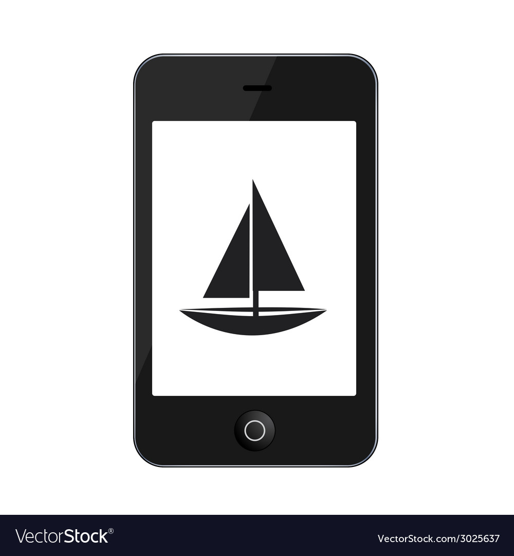 Modern smartphone isolated on white vector | Price: 1 Credit (USD $1)