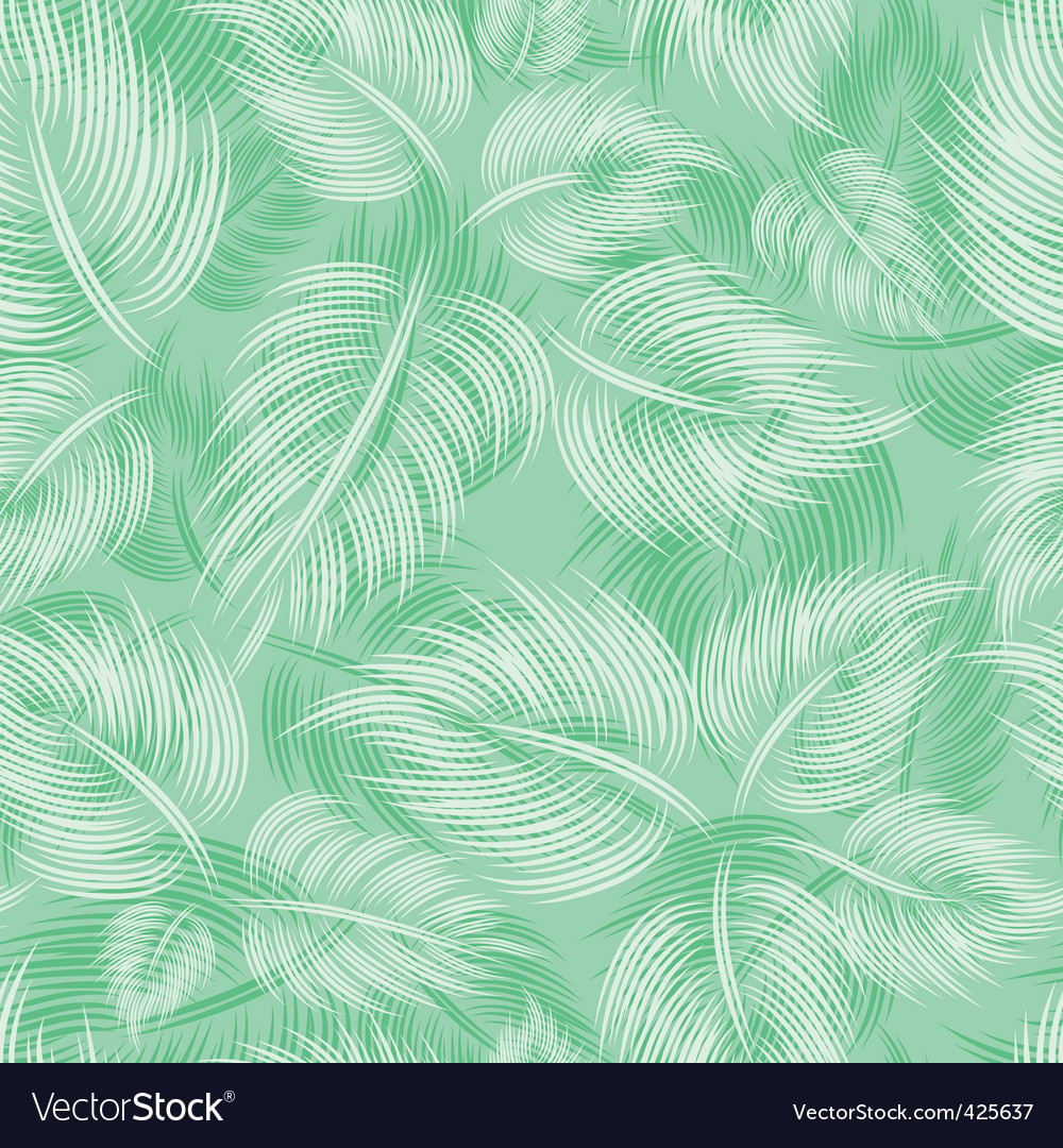 Seamless pattern with green leaf vector | Price: 1 Credit (USD $1)