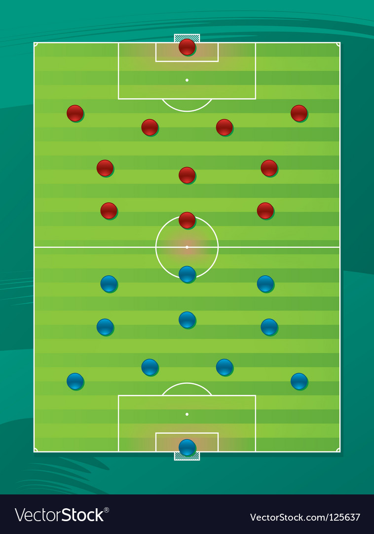 Soccer team tactics field vector | Price: 1 Credit (USD $1)