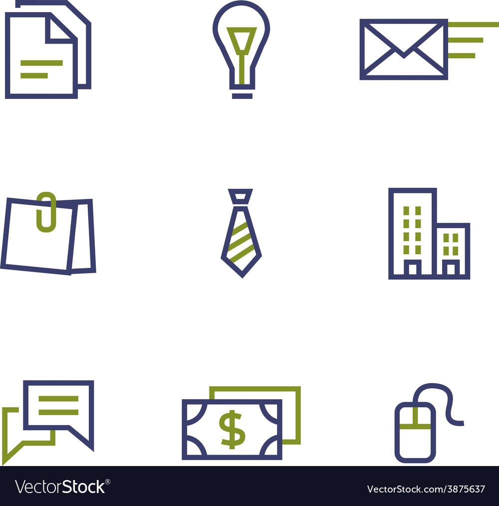 Stock and market symbol line icon on white vector | Price: 1 Credit (USD $1)