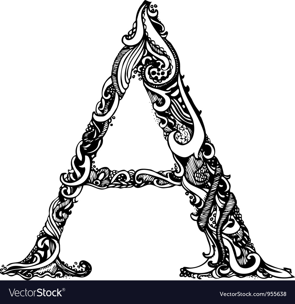 A letter capital black vector | Price: 1 Credit (USD $1)