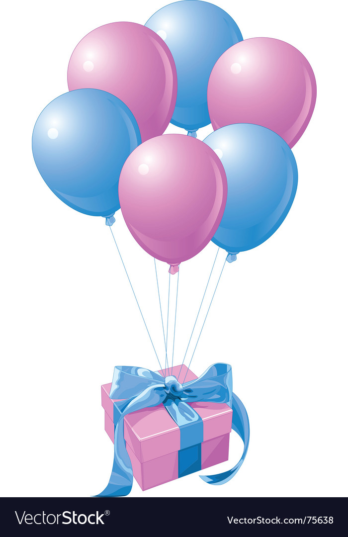 Balloons gift vector | Price: 3 Credit (USD $3)