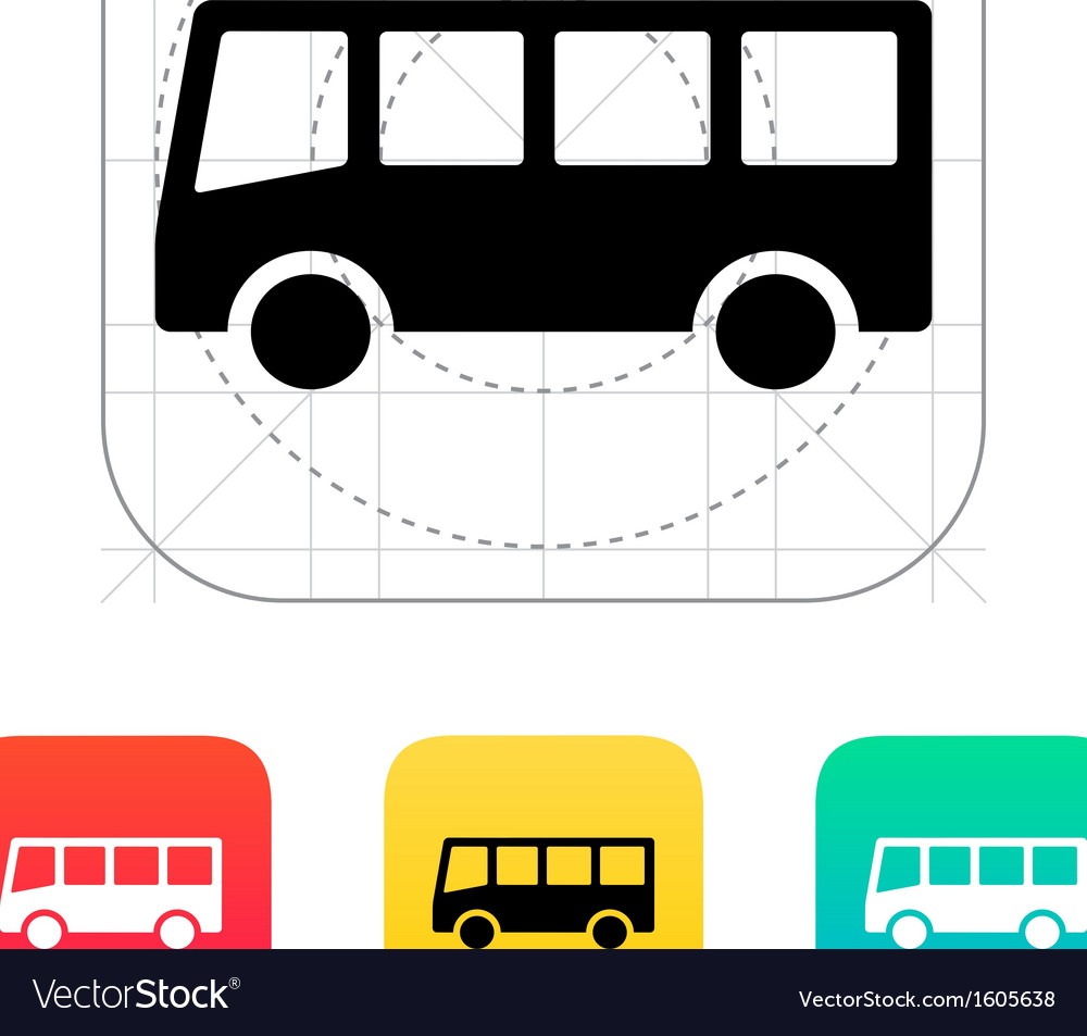 Bus icon vector | Price: 1 Credit (USD $1)