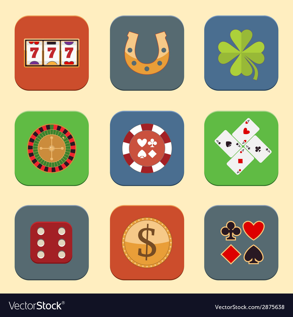Casino design icons vector | Price: 1 Credit (USD $1)