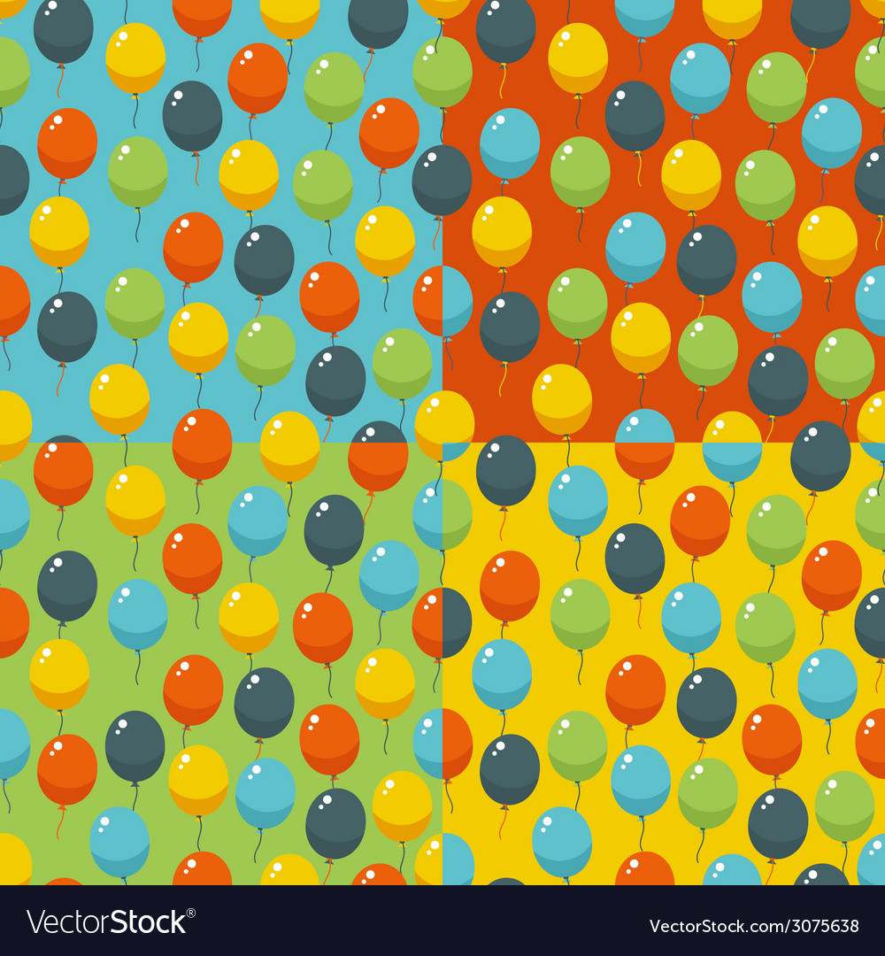 Colored party baloons pattern birthday wedding vector | Price: 1 Credit (USD $1)