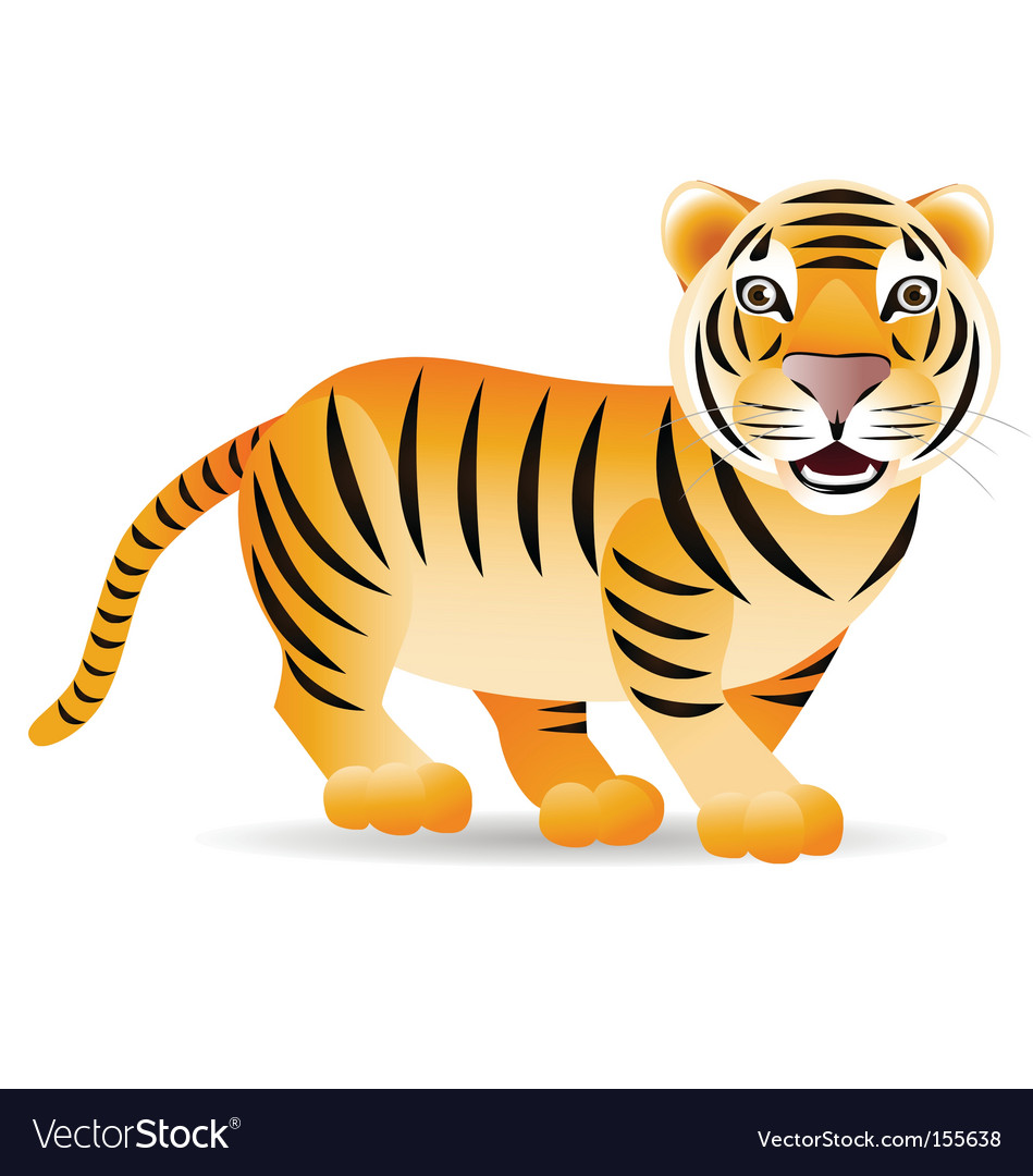Cute tiger vector | Price: 1 Credit (USD $1)