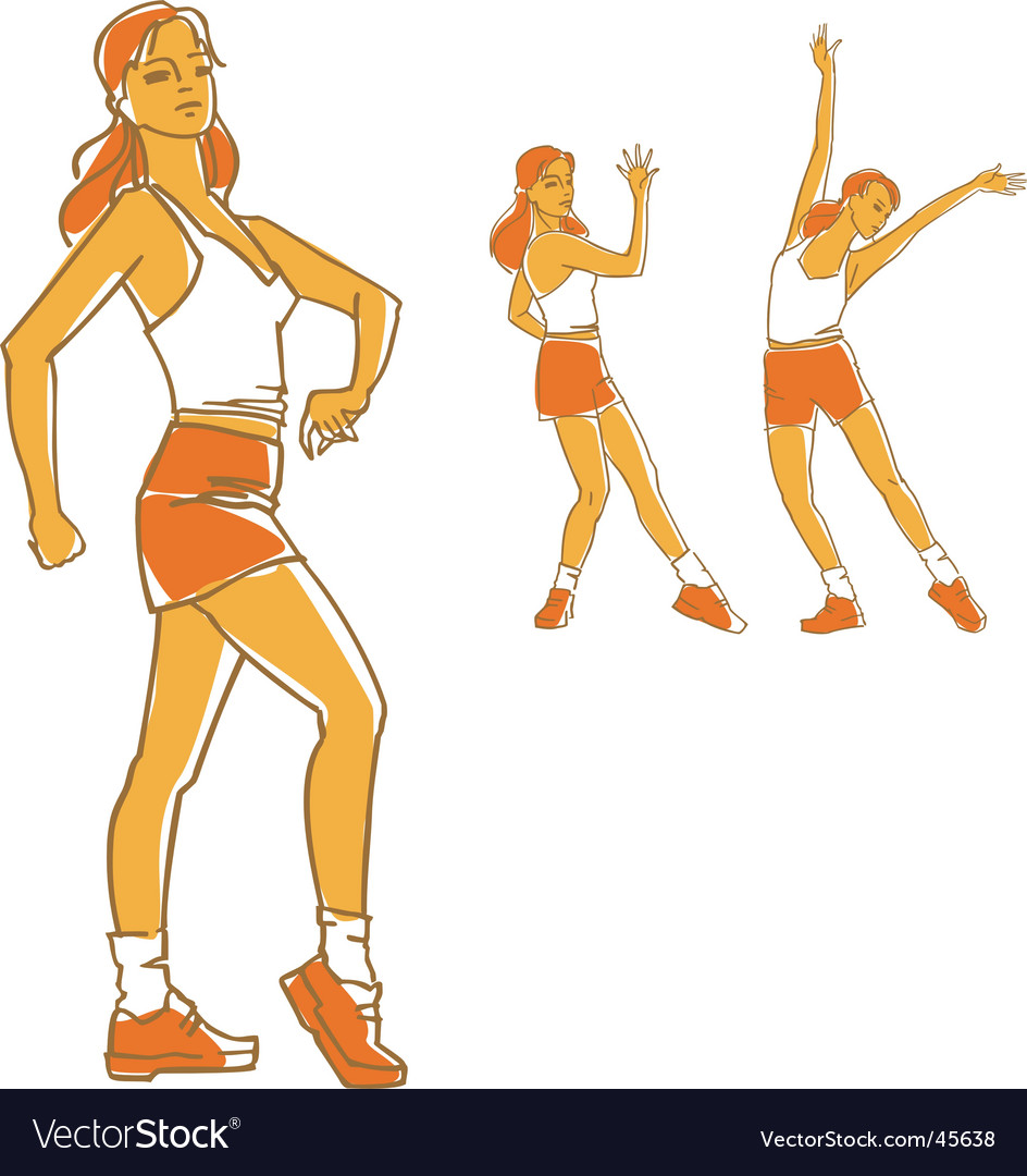 Fitness girls vector | Price: 1 Credit (USD $1)