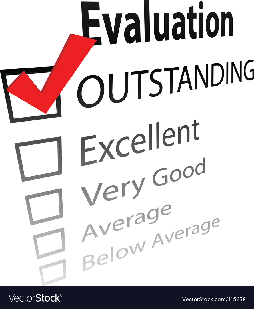 Outstanding job evalution check boxes vector | Price: 1 Credit (USD $1)