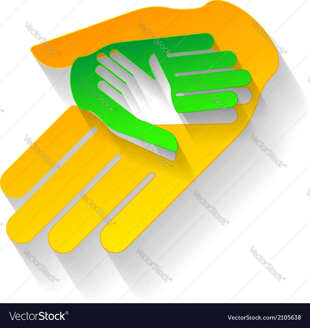 Paper hands vector | Price: 1 Credit (USD $1)