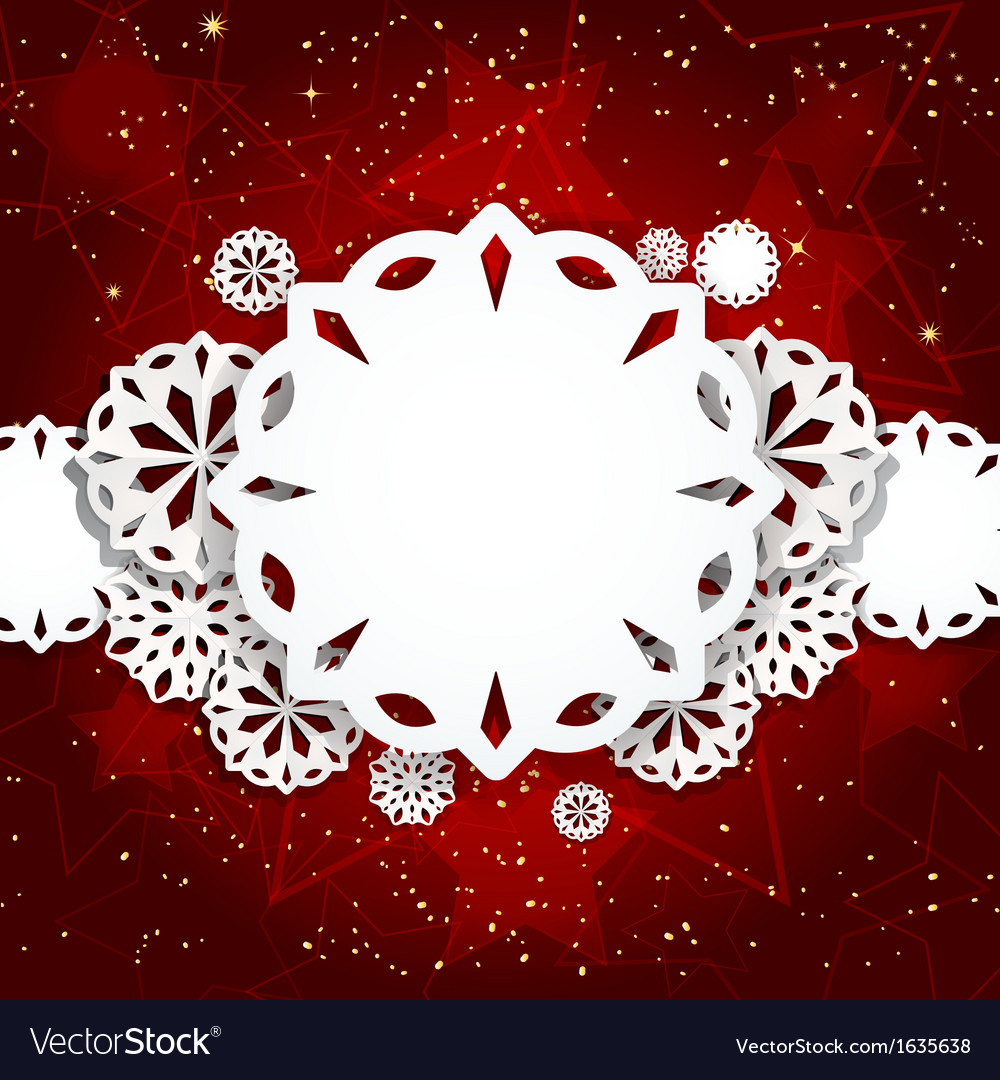 Paper snowflake background vector | Price: 1 Credit (USD $1)