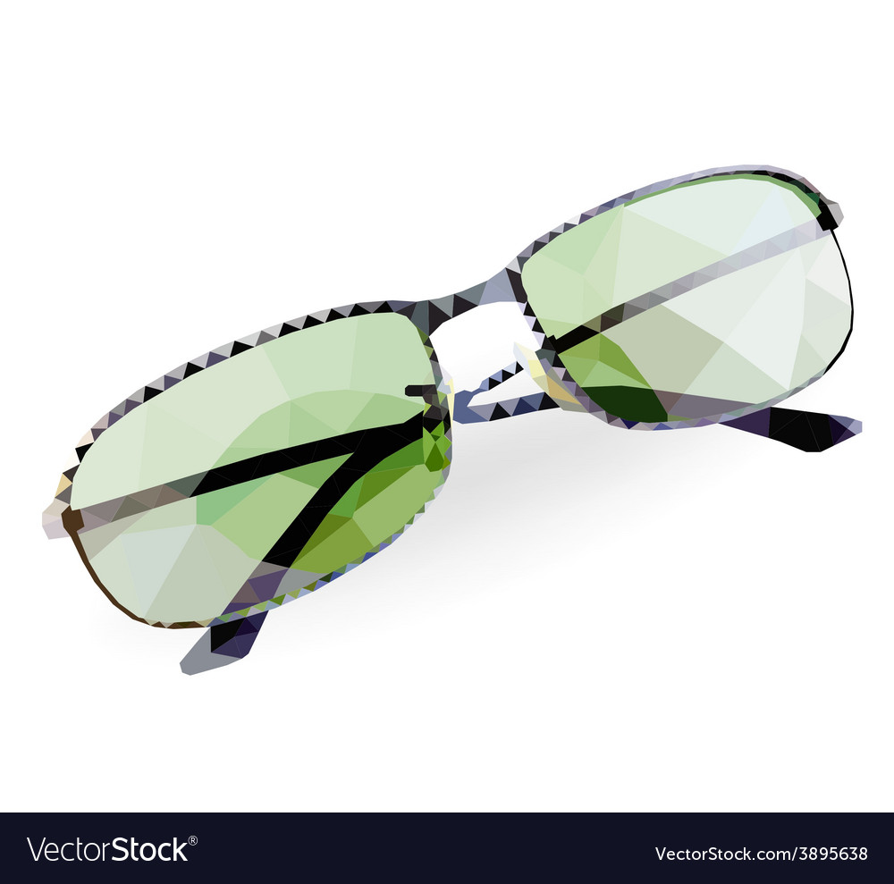 Poly sunglass vector | Price: 1 Credit (USD $1)