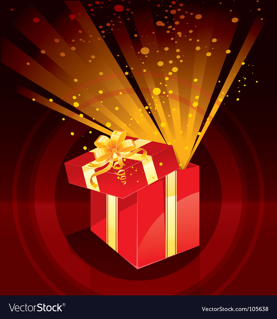 Present magic vector | Price: 1 Credit (USD $1)