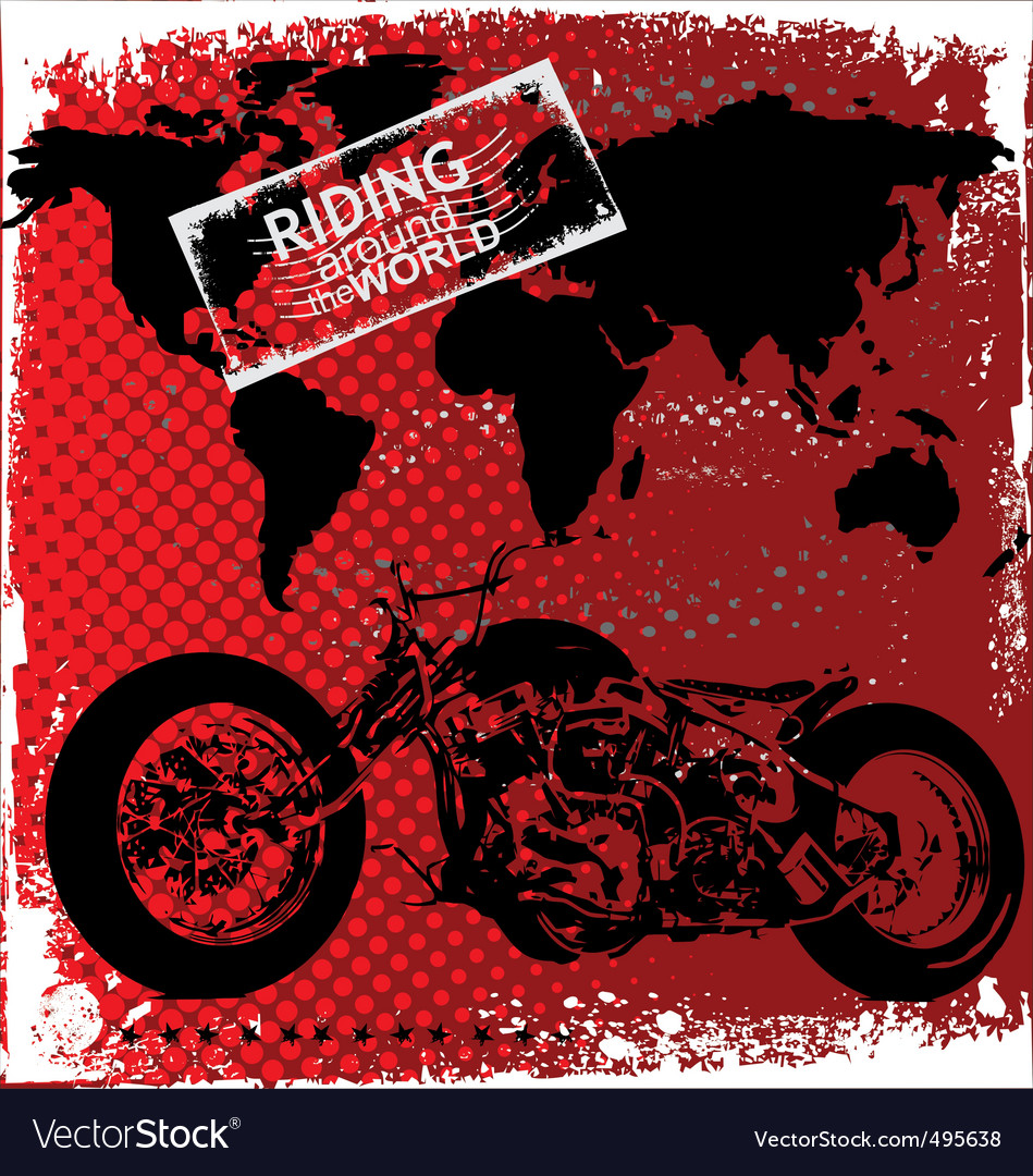 Riding around the world vector | Price: 1 Credit (USD $1)