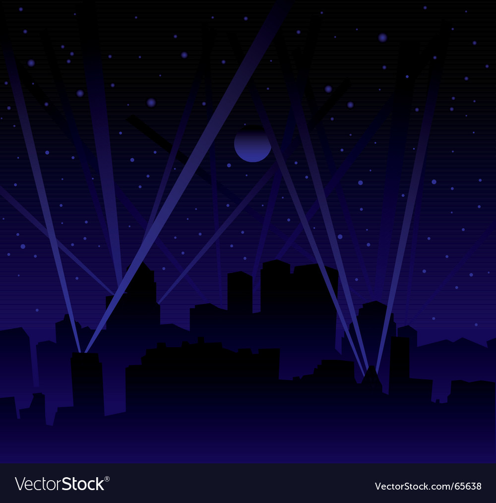 Search light skyline vector | Price: 1 Credit (USD $1)