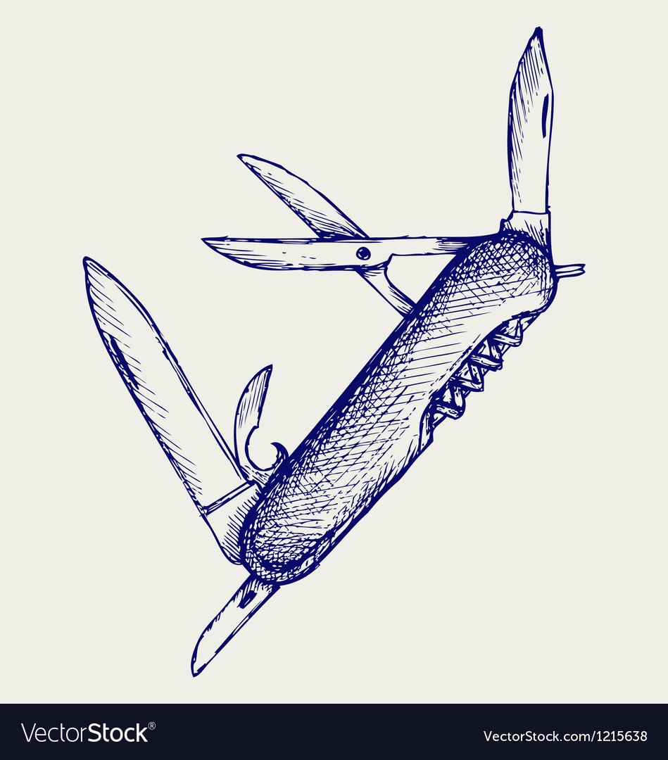 Swiss army knife vector | Price: 1 Credit (USD $1)