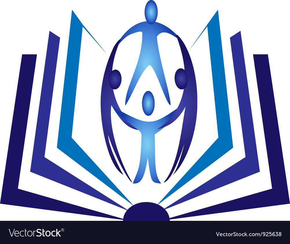 Teamwork book logo vector | Price: 1 Credit (USD $1)