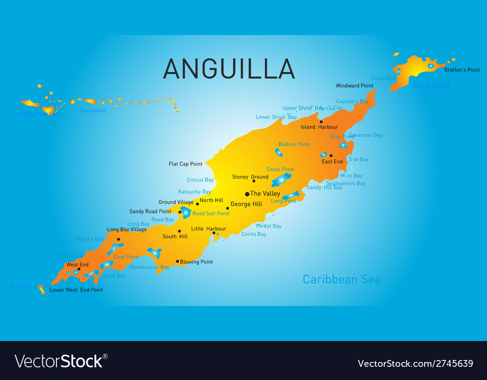 Anguilla territory vector | Price: 1 Credit (USD $1)