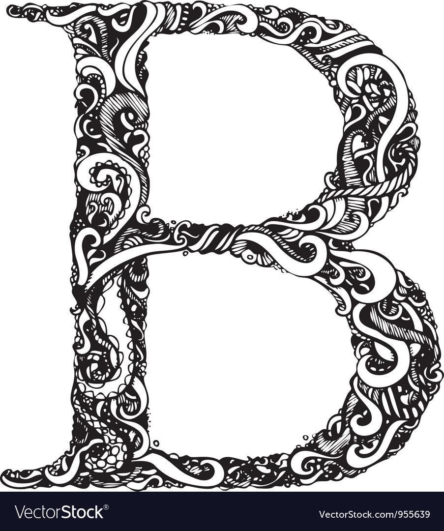 B letter capital black vector | Price: 1 Credit (USD $1)