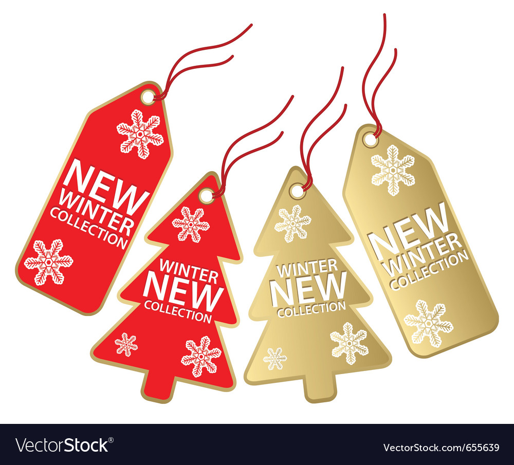 Christmas sales tag vector | Price: 1 Credit (USD $1)