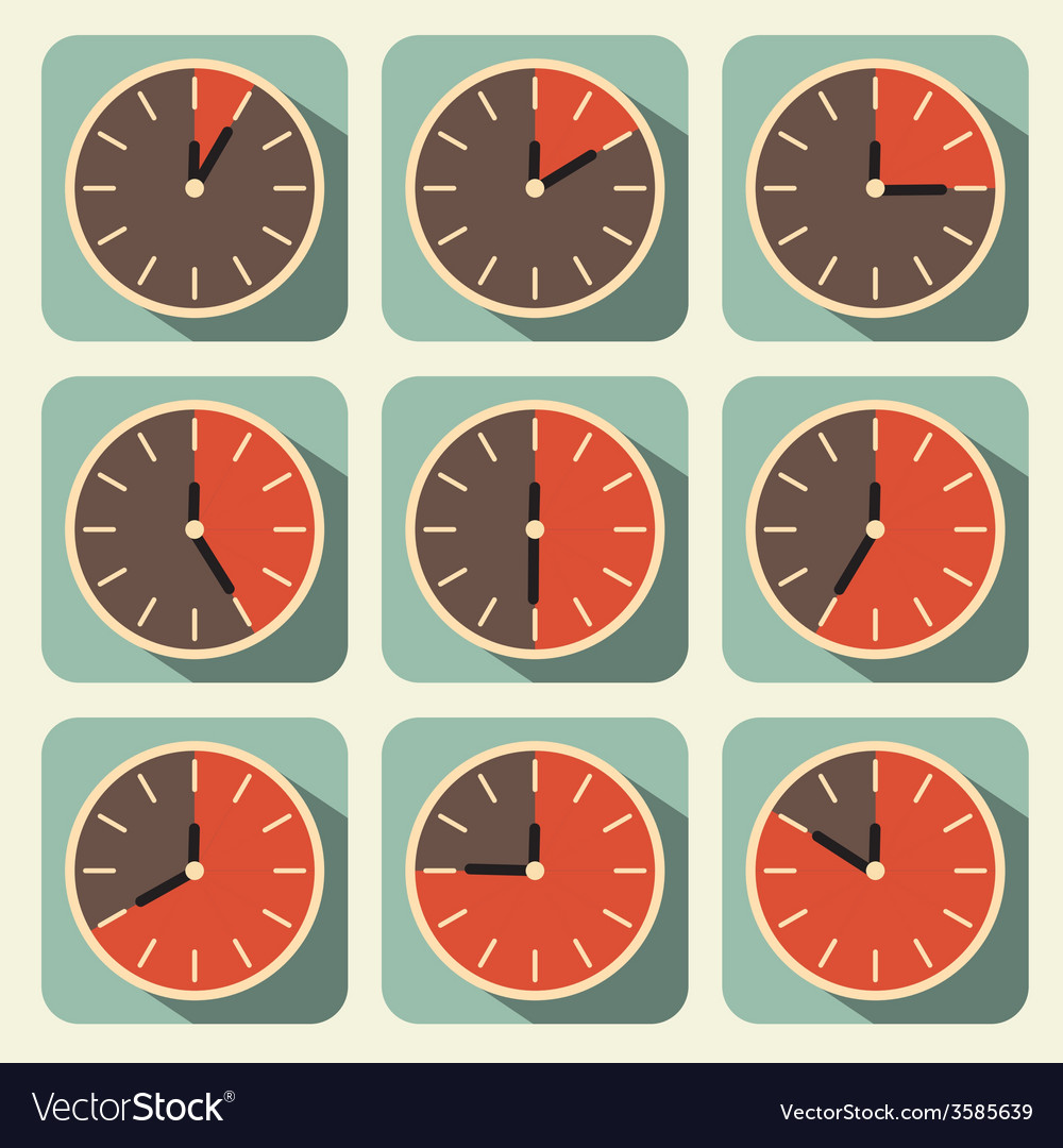 Clock - time countdown set vector | Price: 1 Credit (USD $1)