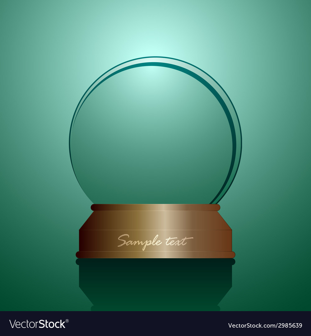 Empty snow globe vector | Price: 1 Credit (USD $1)