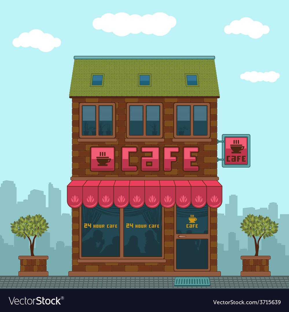 Facade cafe vector   Price: 1 Credit (USD $1)