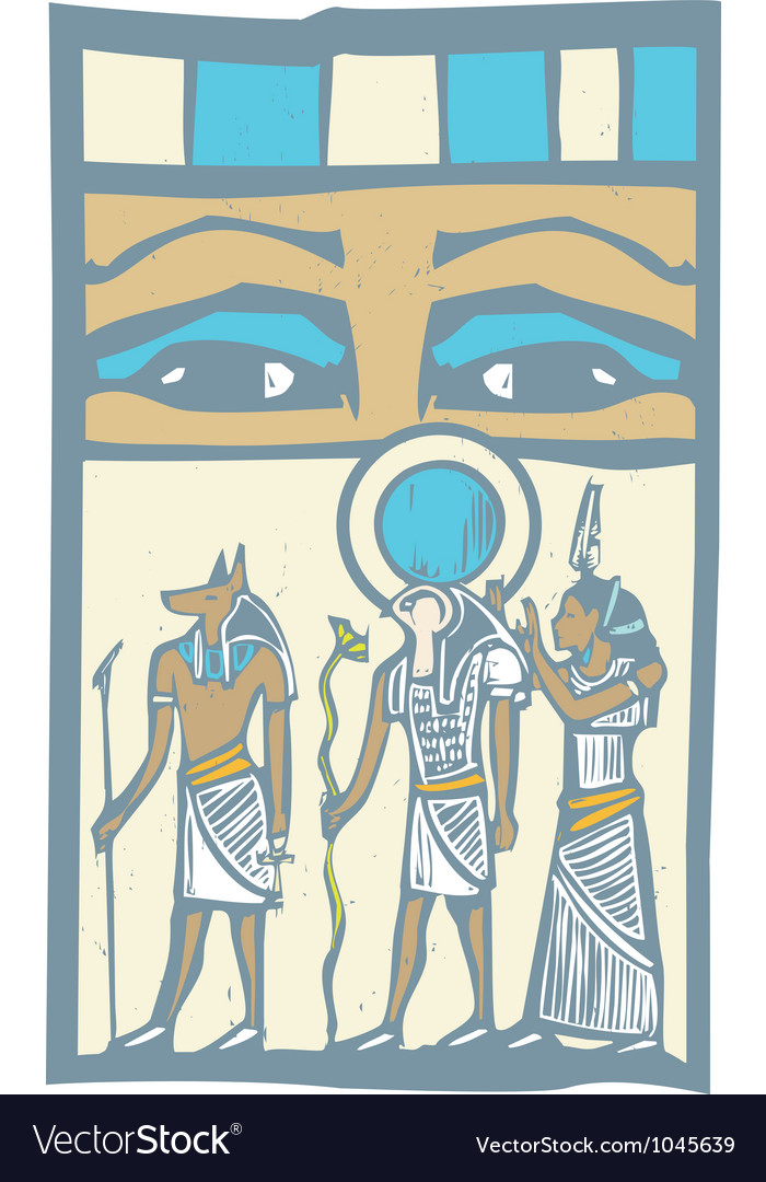 Hieroglyph eyes vector | Price: 1 Credit (USD $1)