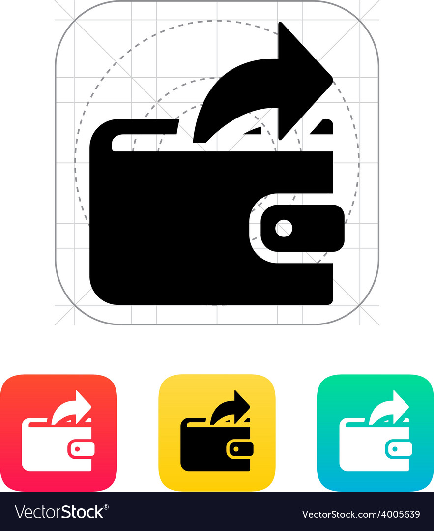 Outgoing payment from wallet icon vector | Price: 1 Credit (USD $1)