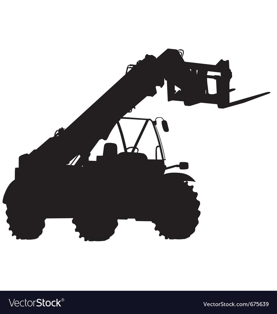 Telescopic handler silhouette vector | Price: 1 Credit (USD $1)