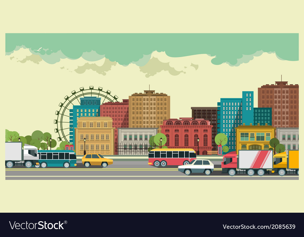 Urban landscape vector   Price: 1 Credit (USD $1)