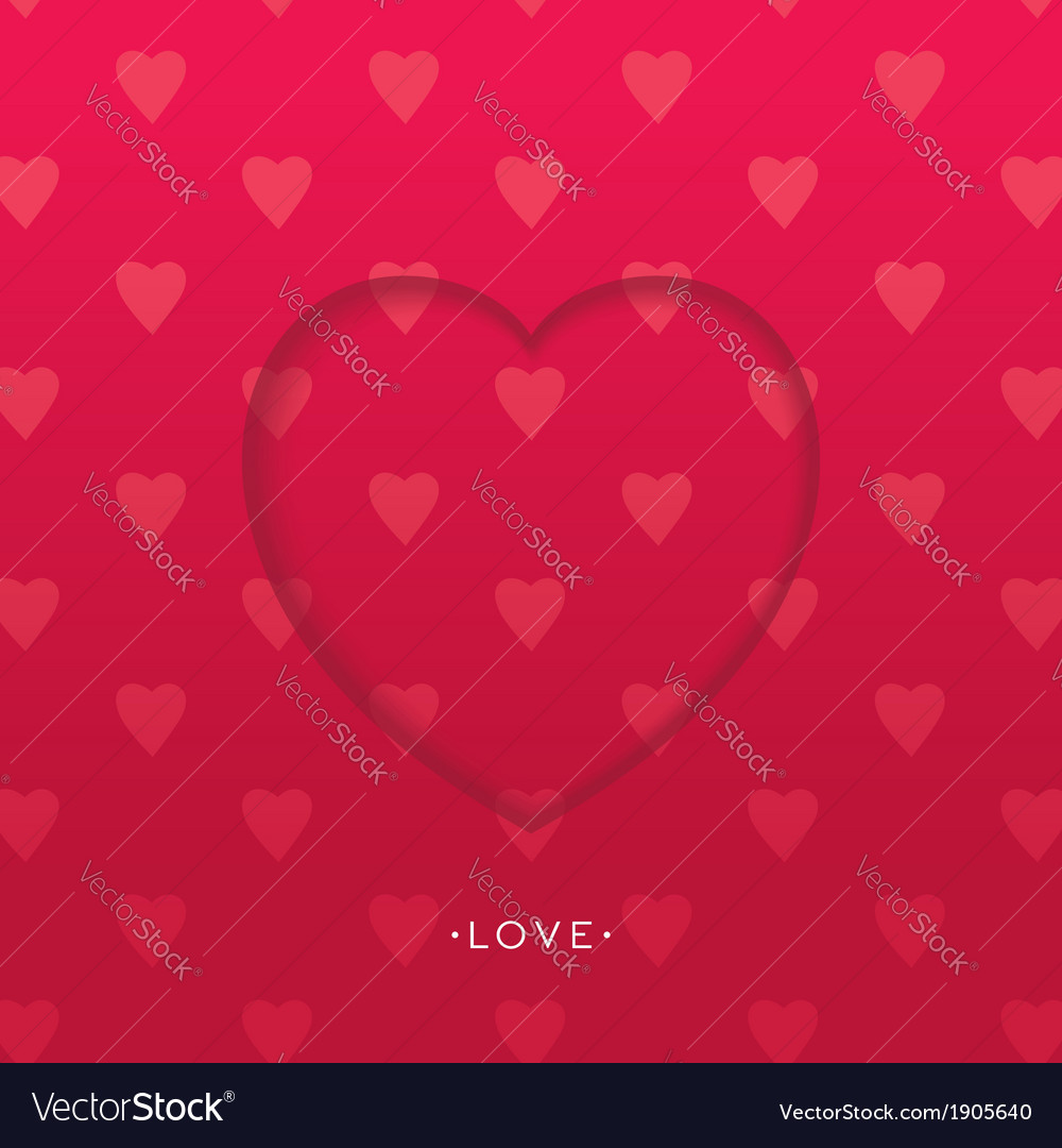 3d heart background vector | Price: 1 Credit (USD $1)
